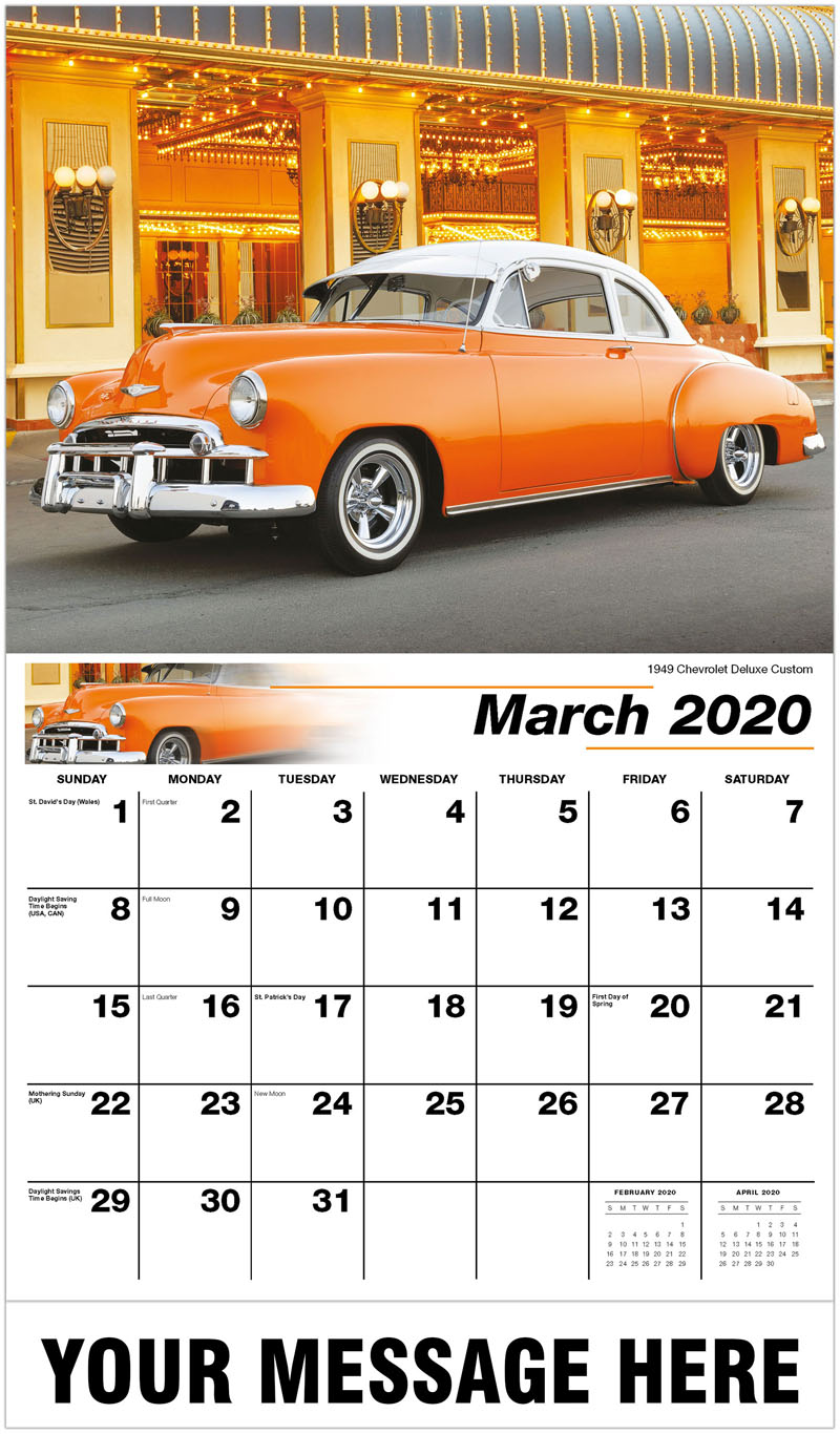 2020 Promo Calendar - 1949 Chevrolet Deluxe Custom - March