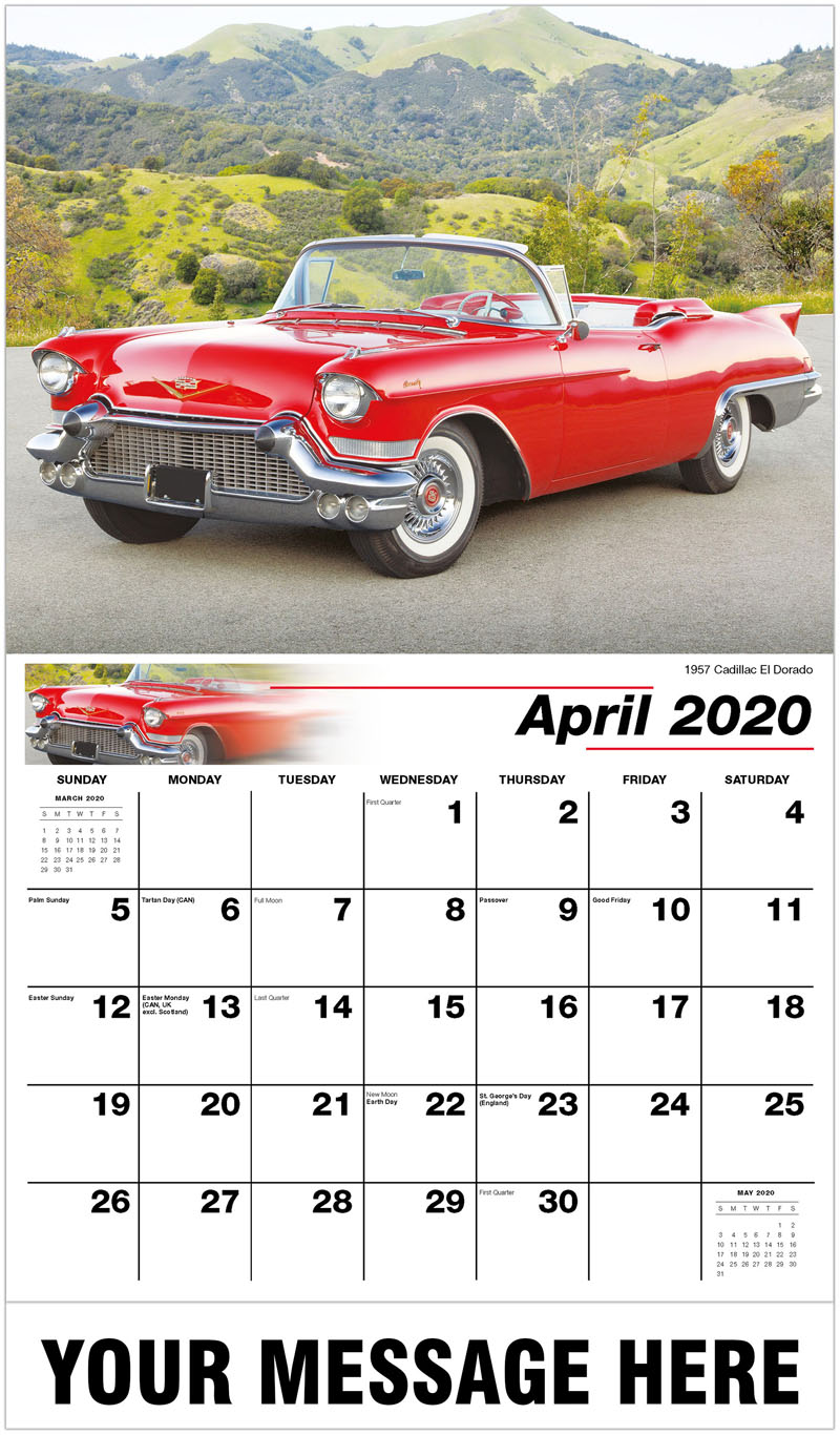 2020 Promo Calendar - 1957 Cadillac Eldorado - April