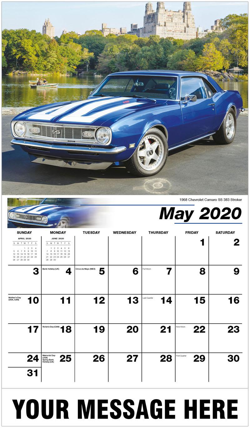 2020 Promo Calendar - 1968 Chevrolet Camaro Ss 383 Stroker - May