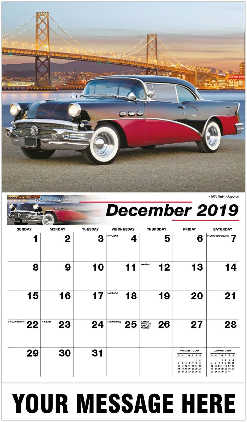 2020 Promotional Calendar - 1956 Buick Special - December_2019
