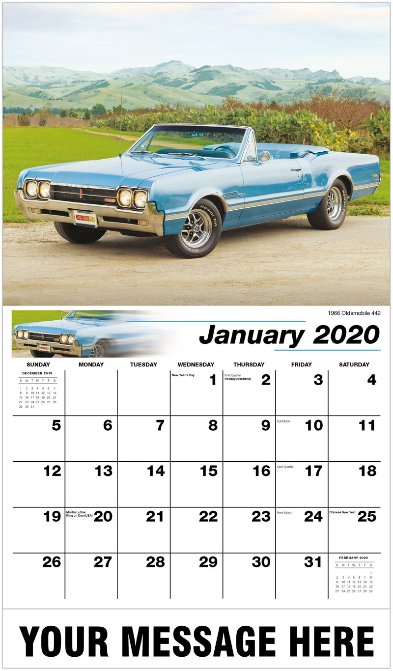 2020 Promotional Calendar - 1966 Oldsmobile 442 - January