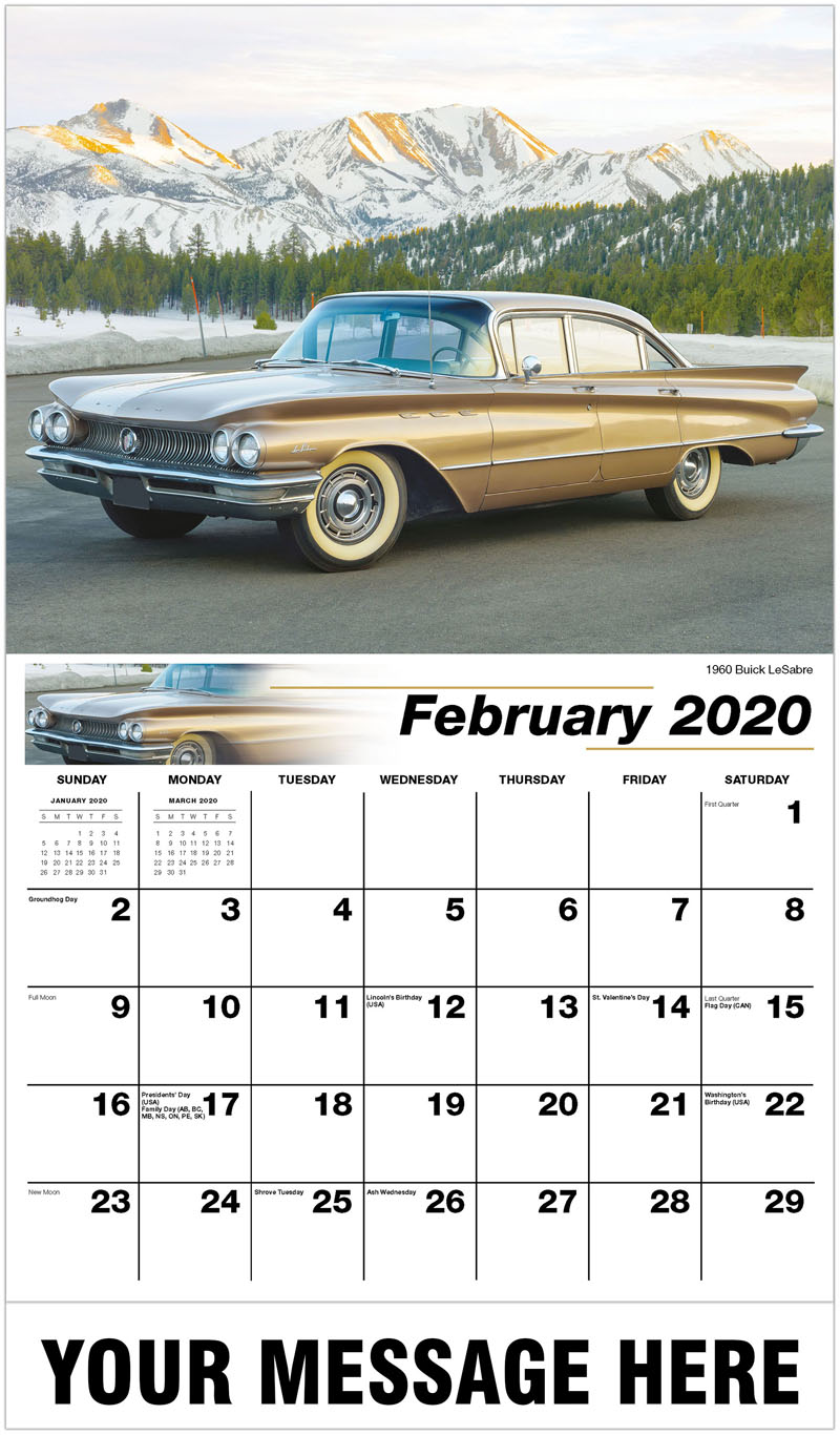 2020 Promotional Calendar - 1960 Buick Lesabre - February
