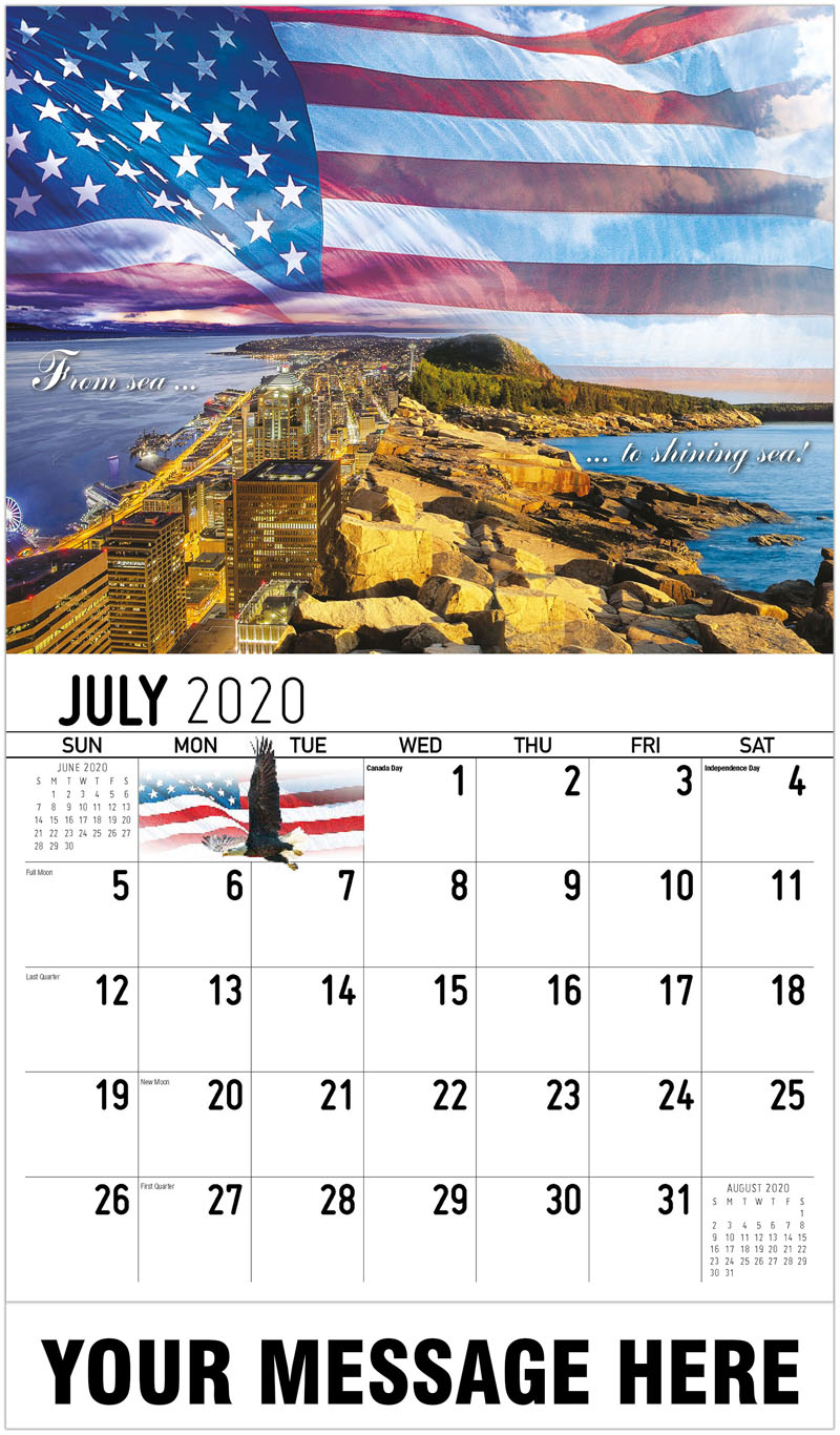 2020 Business Advertising Calendar - From Sea To Shining Sea - July