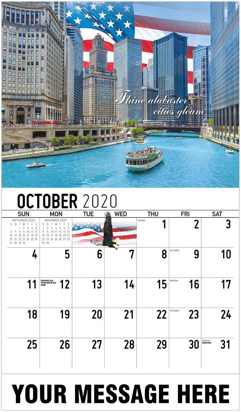 2020 Business Advertising Calendar - Thine Alabaster Cities Gleam - October