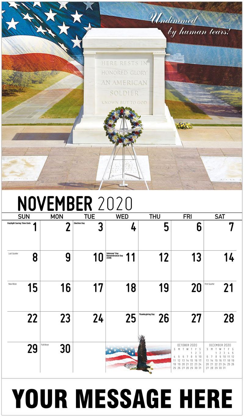 2020 Advertising Calendar - Undimmed By Human Tears - November