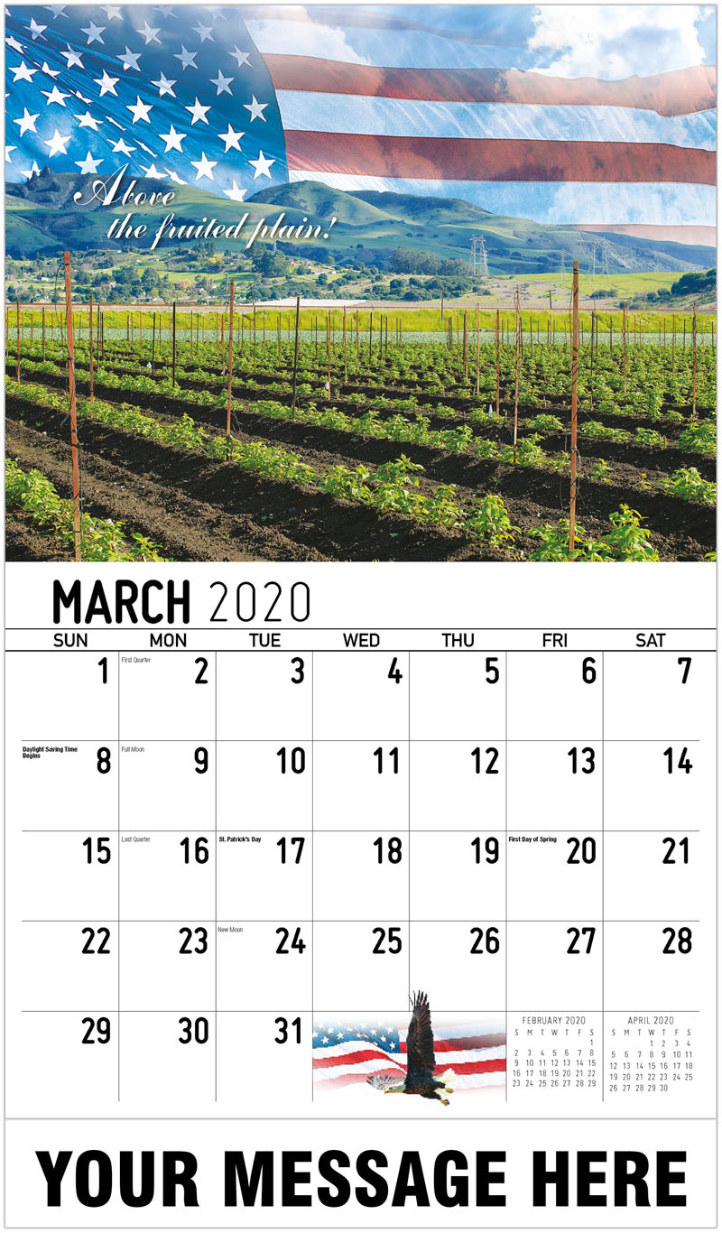 2020 Promo Calendar - Above The Fruited Plain - March