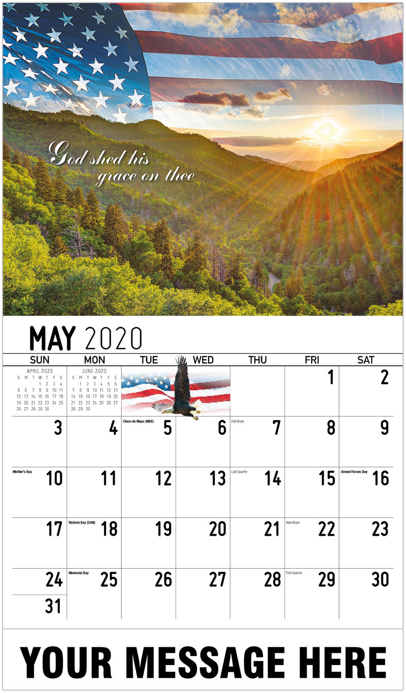 2020 Promo Calendar - God Shed His Grace On Thee - May