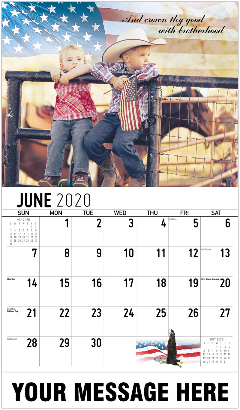 2020 Promo Calendar - And Crown Thy Good With Brotherhood - June