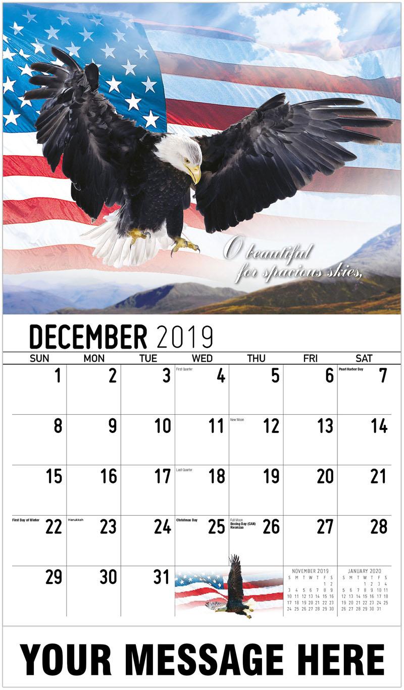 2020 promotional calendar america the beautiful