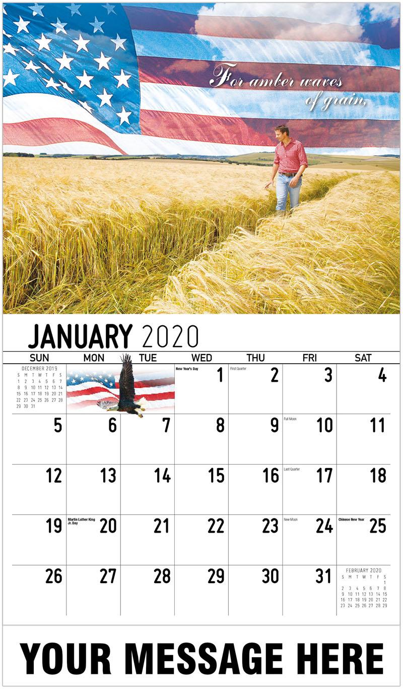 2020 Promotional Calendar - For Amber Waves Of Grain - January