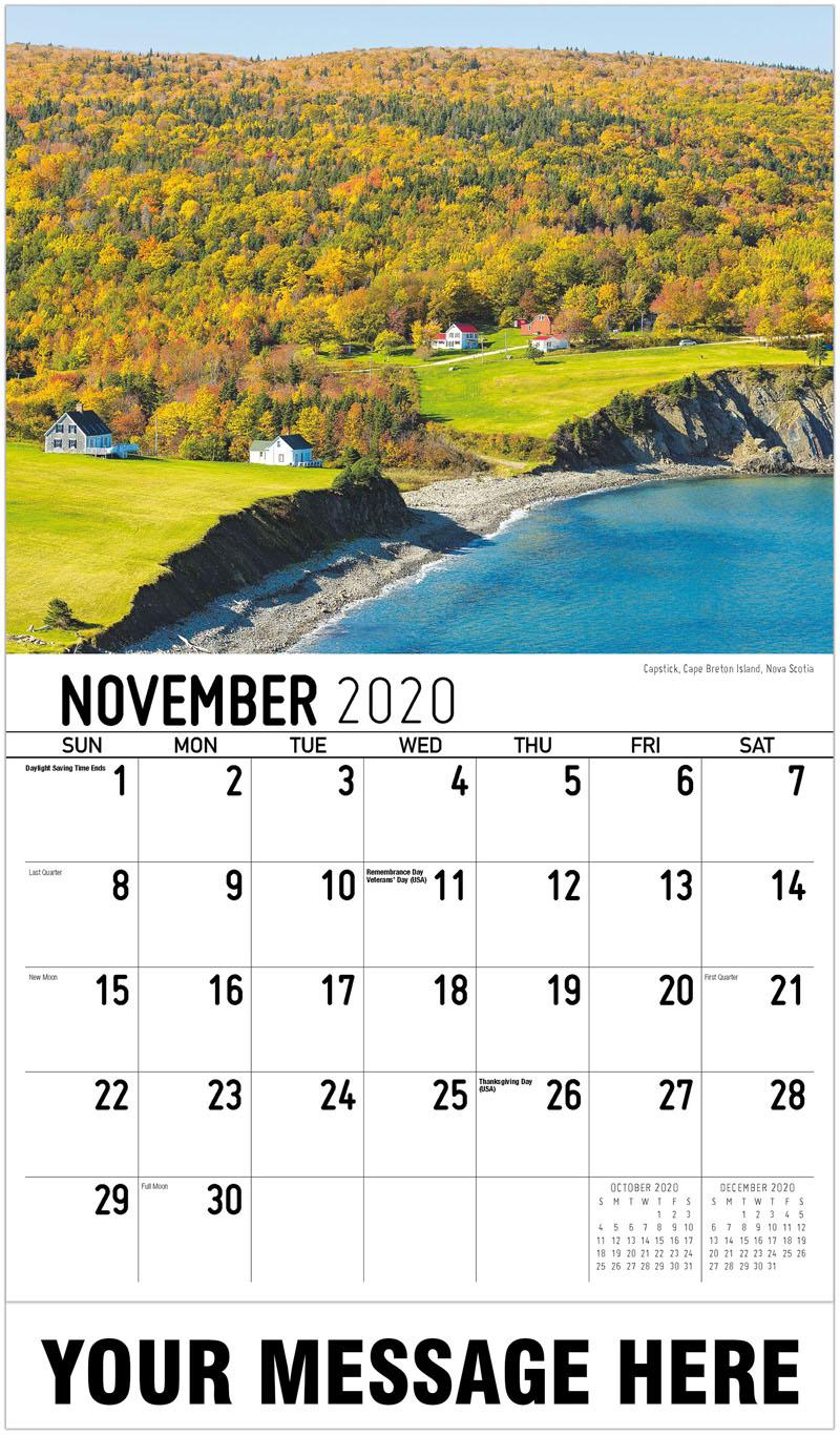 2020 Advertising Calendar - Capstick, Nova Scotia - November