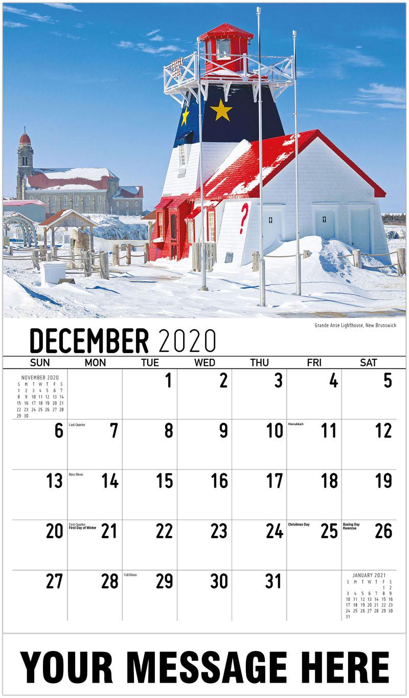 2020 Advertising Calendar - Grande Anse Lighthouse, New Brunswick - December_2020