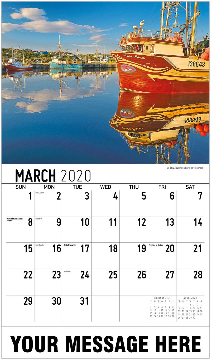 2020 Promo Calendar - La Scie, Newfoundland And Labrador - March