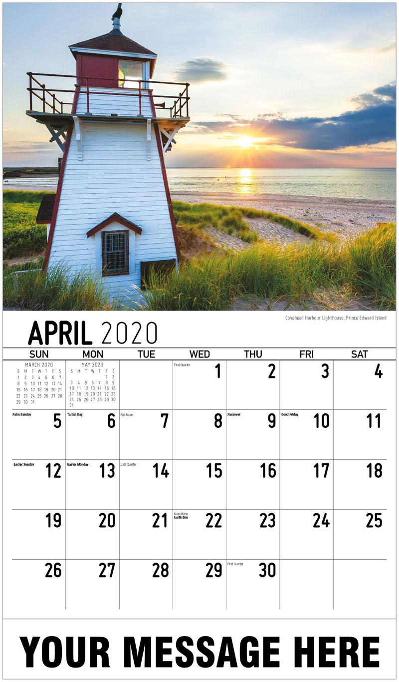 2020 Promo Calendar - Covehead Harbour Lighthouse, Prince Edward Island - April