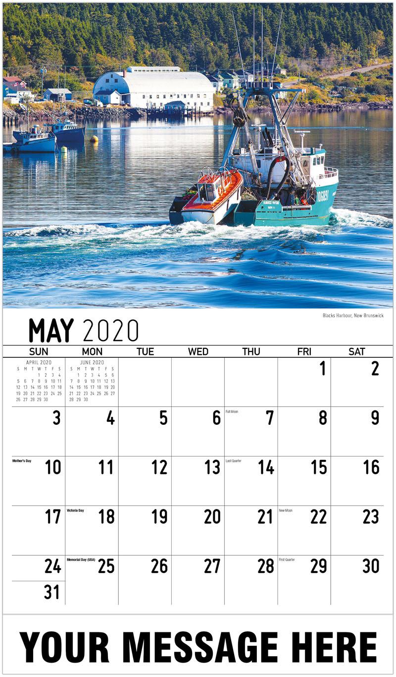 2020 Promo Calendar - Blacks Harbour, New Brunswick - May