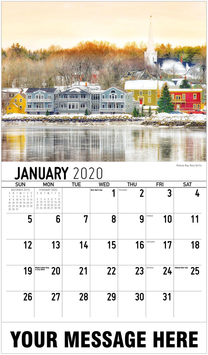 2020 Promotional Calendar - Mahone Bay, Nova Scotia - January