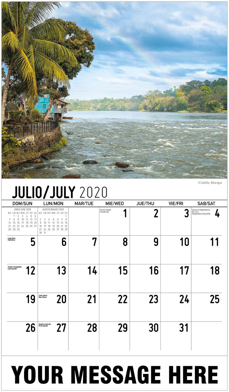 2020 Business Advertising Calendar - El Castillo, Nicaragua - July