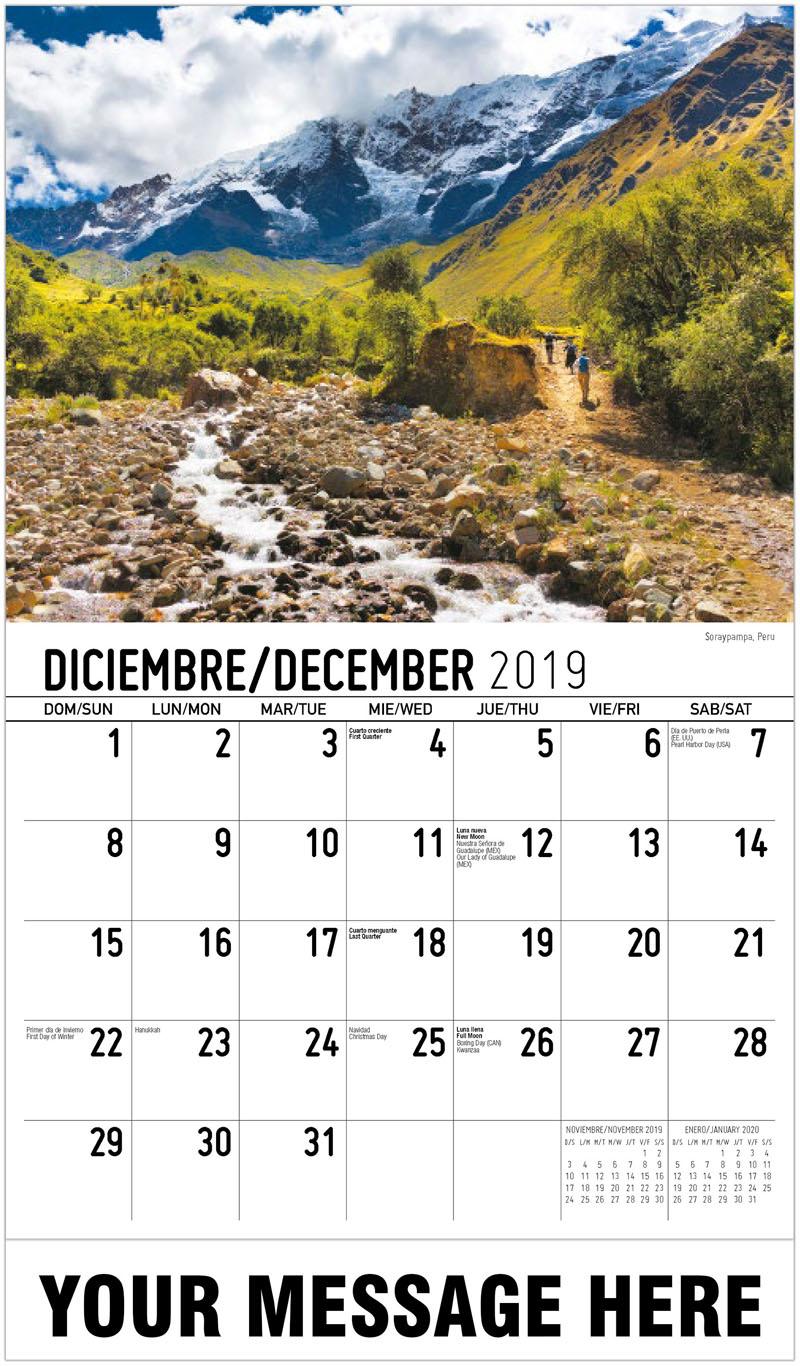 2020 Promo Calendar - Soraypampa, Peru - December_2019