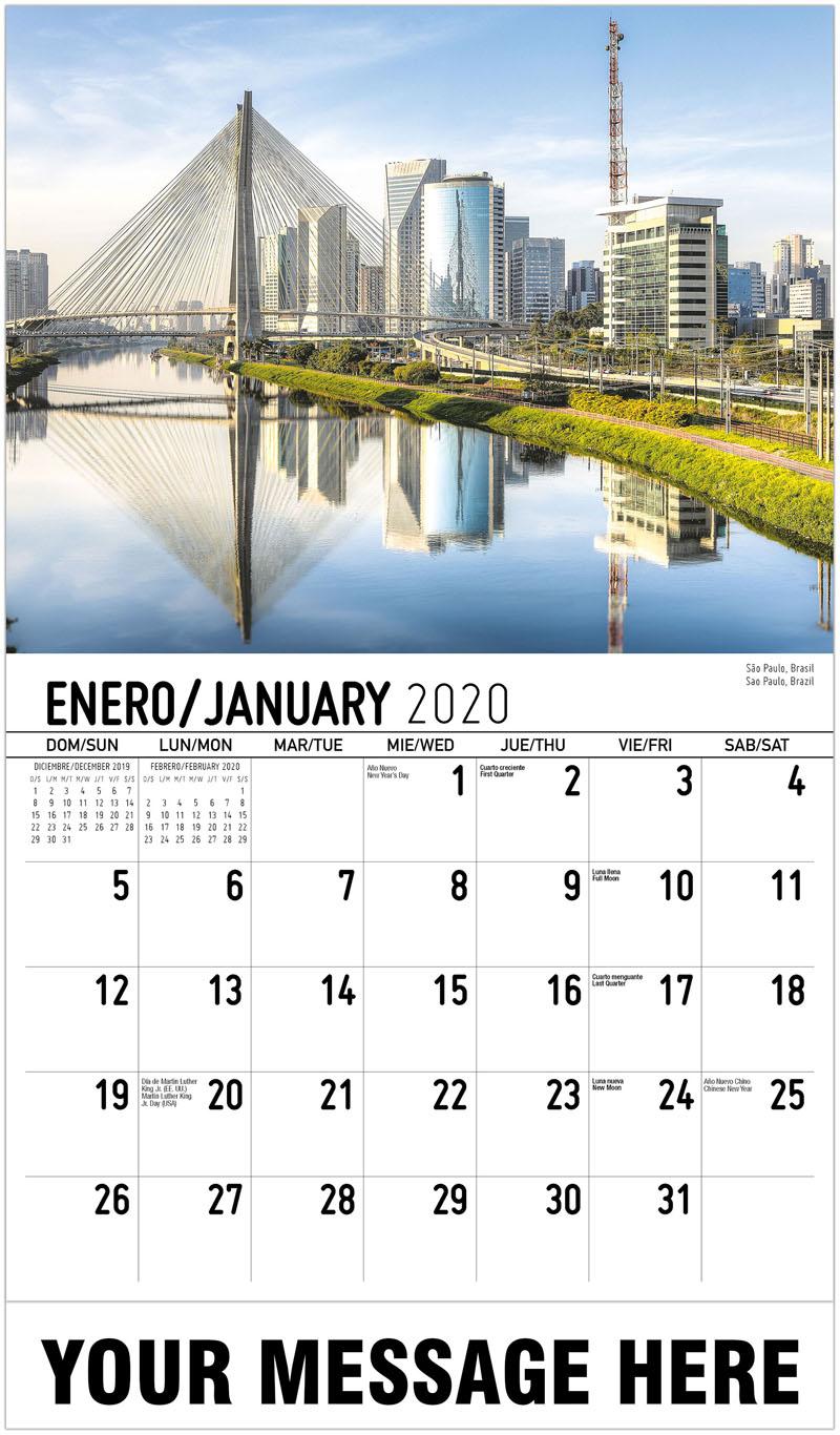 2020 Promo Calendar - Sao Paulo, Brazil São Paulo, Brasil - January