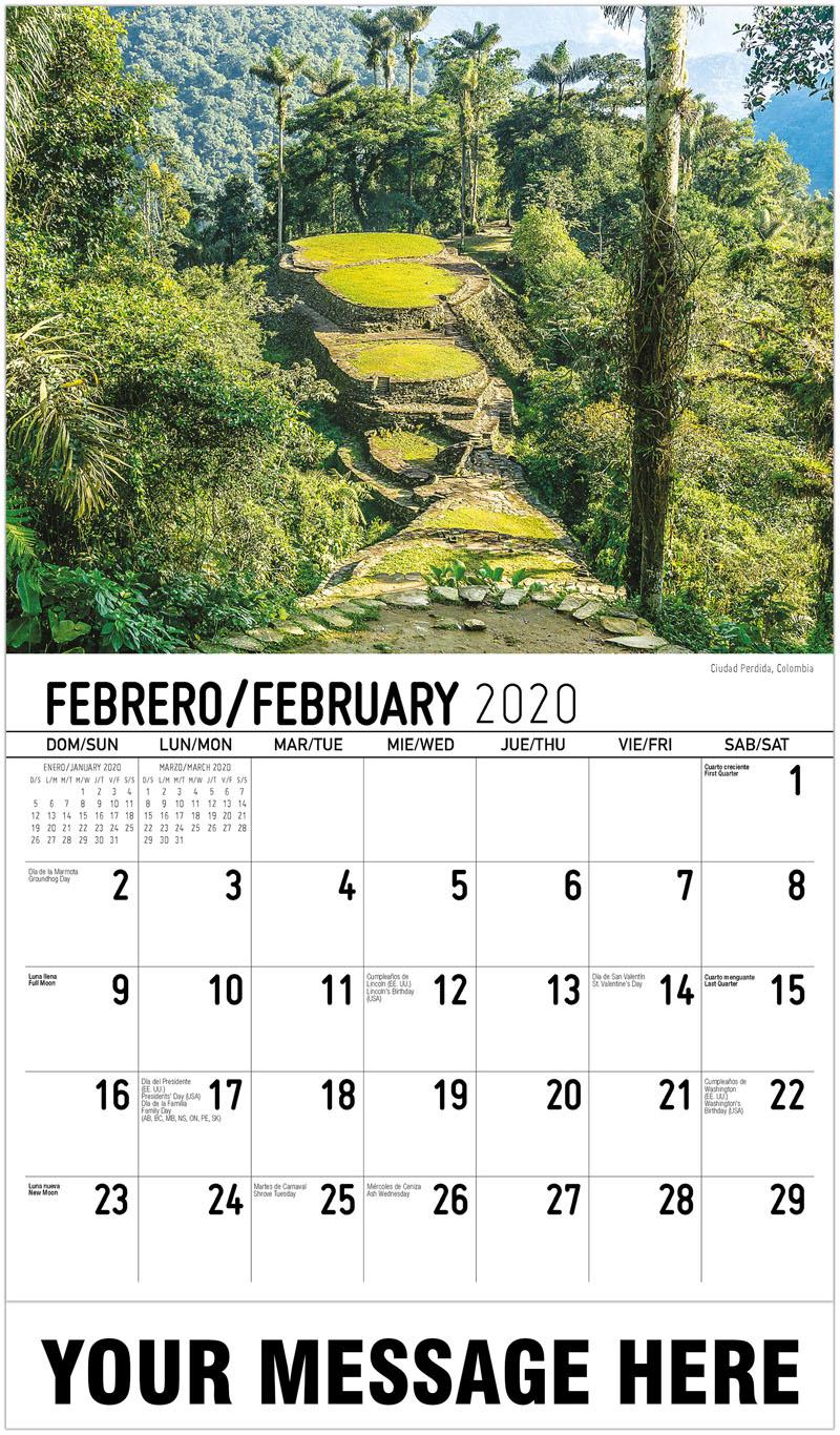 2020 Promo Calendar - Ciudad Perdida, Colombia - February
