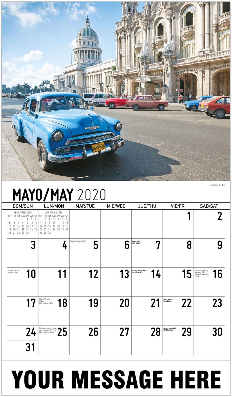 2020 Promotional Calendar - Havana, Cuba - May