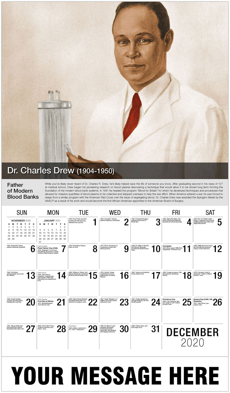 2020 Advertising Calendar - Charles Drew - December_2020