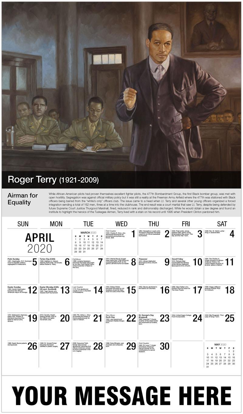 2020 Promo Calendar - Roger Terry - April