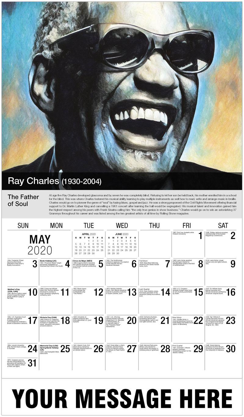 2020 Promo Calendar - Ray Charles - May