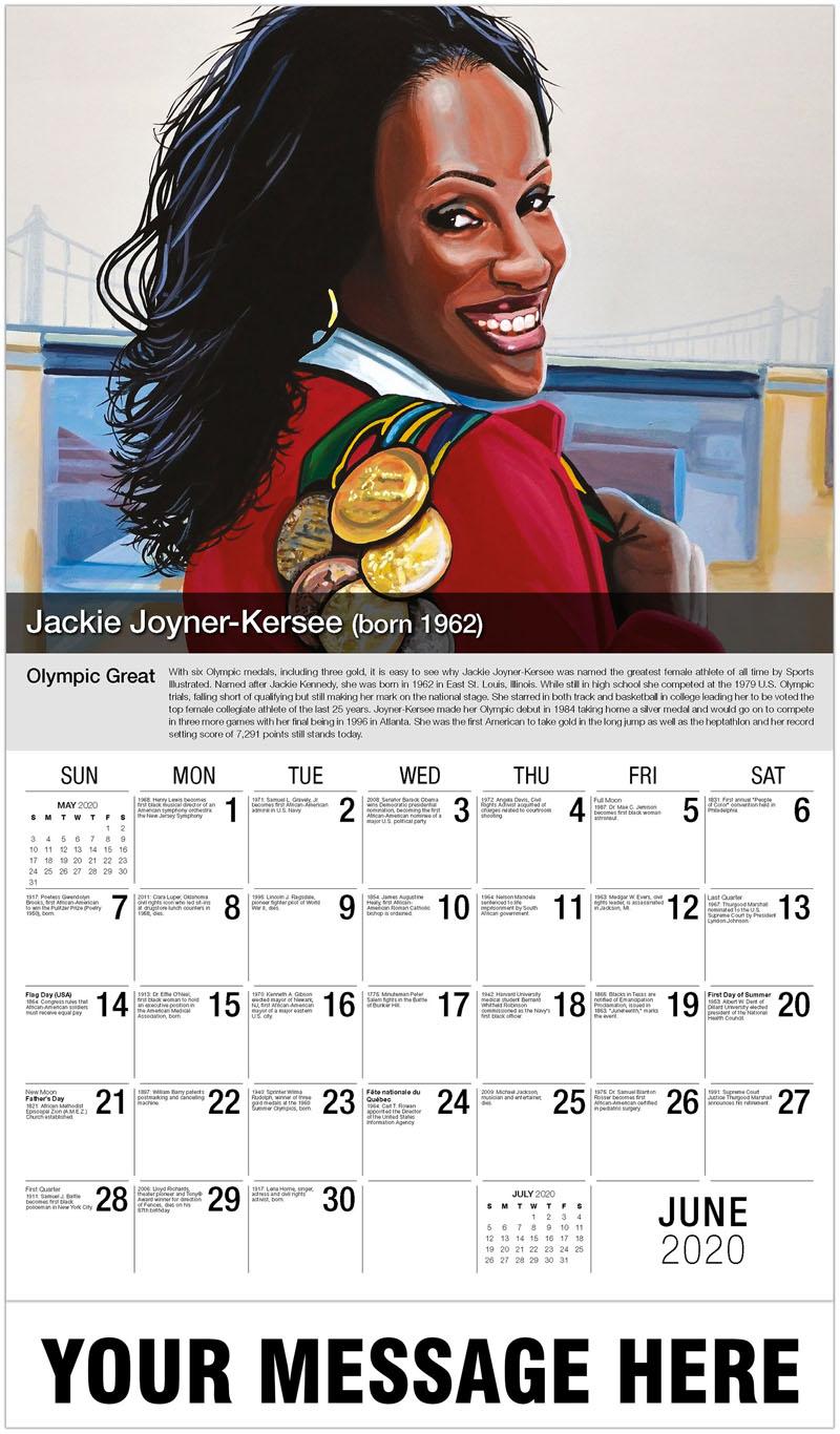2020 Promo Calendar - Jackie Joyner - June