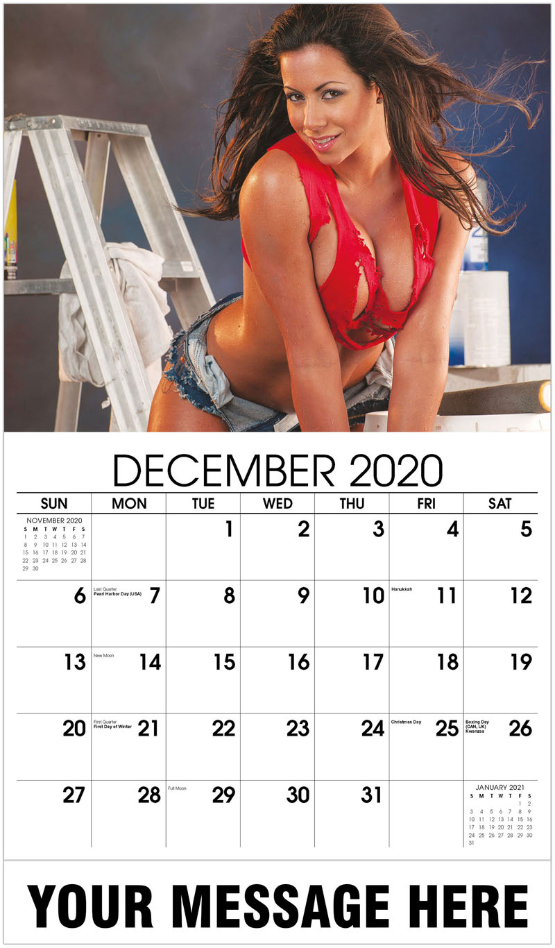 2020 Advertising Calendar - Construction Girls Calendar - December 2020