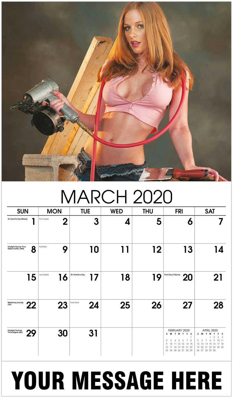 2020 Promo Calendar - Construction Girls Calendar - March 2020