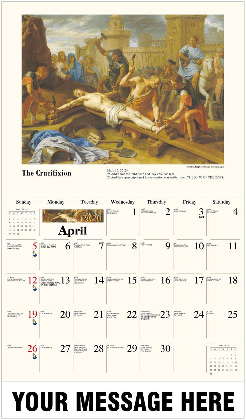 2020 Promo Calendar - The Crucifixion By Philippe De Champaigne - April