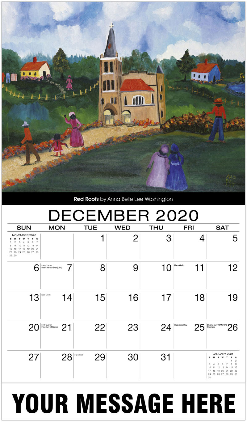 2020 Advertising Calendar - Red Roofs By Anna Belle Lee Washington - December_2020