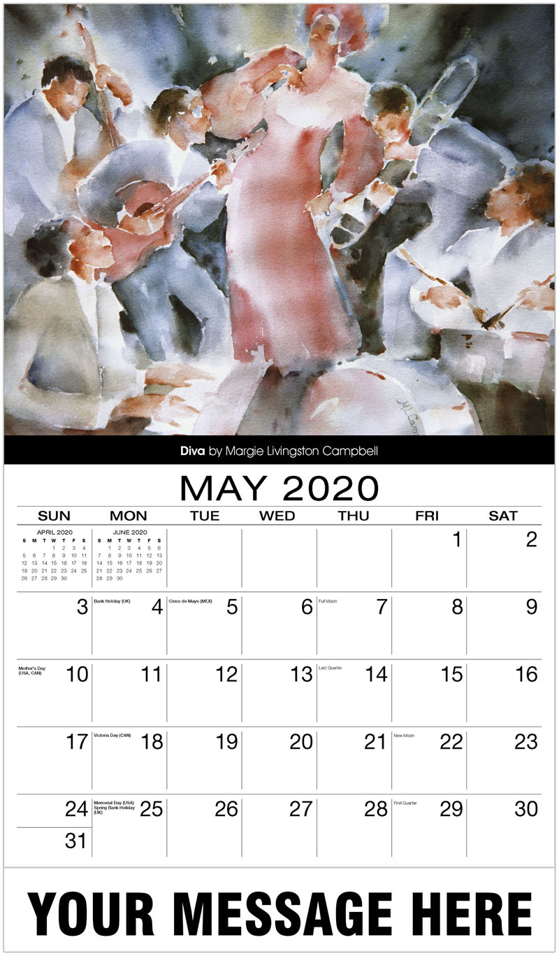 2020 Promo Calendar - Diva By Margie Livingston Campbell - May