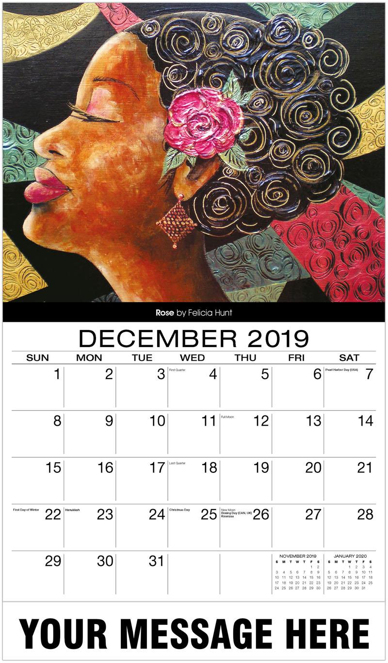 2020 Promotional Calendar - Rose By Felicia Hunt - December_2019