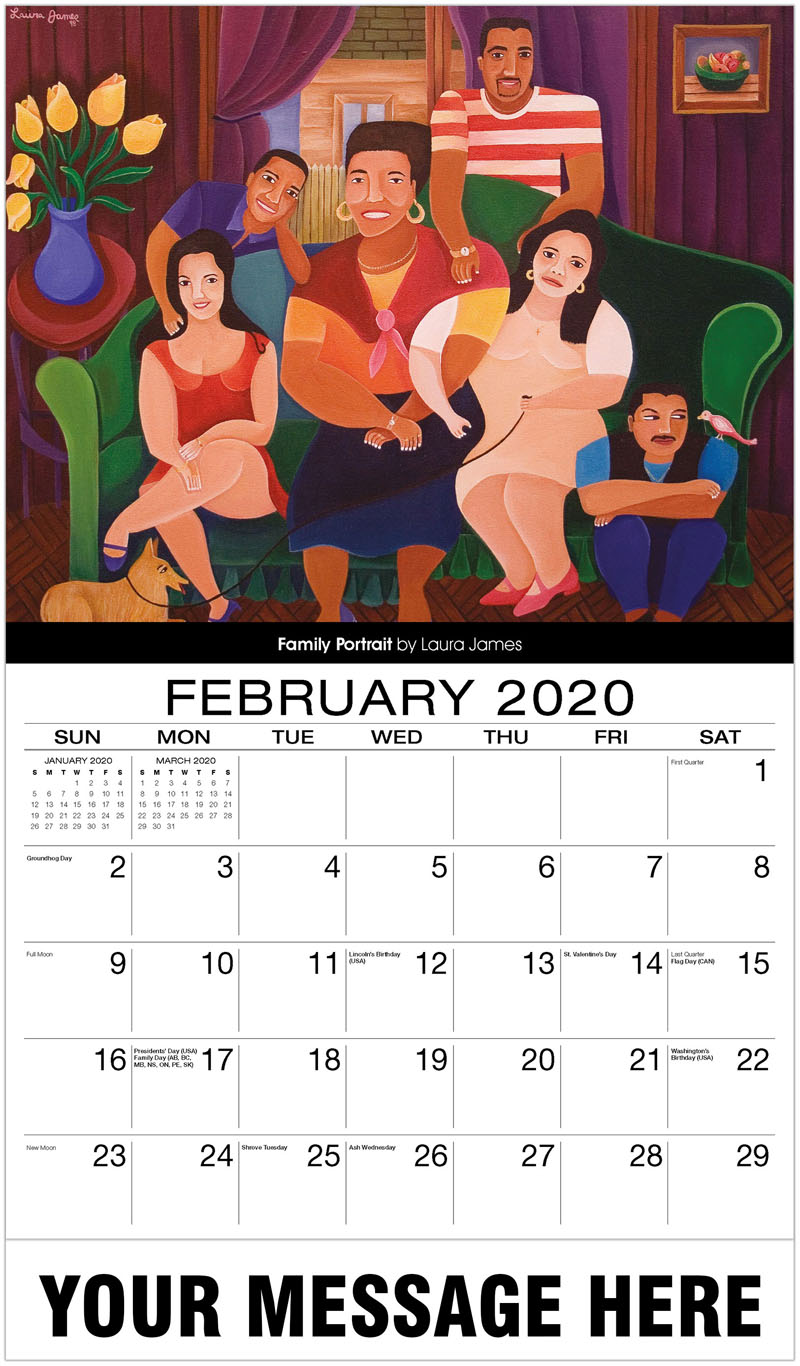 2020 Promotional Calendar - Family Portrait By Laura James - February