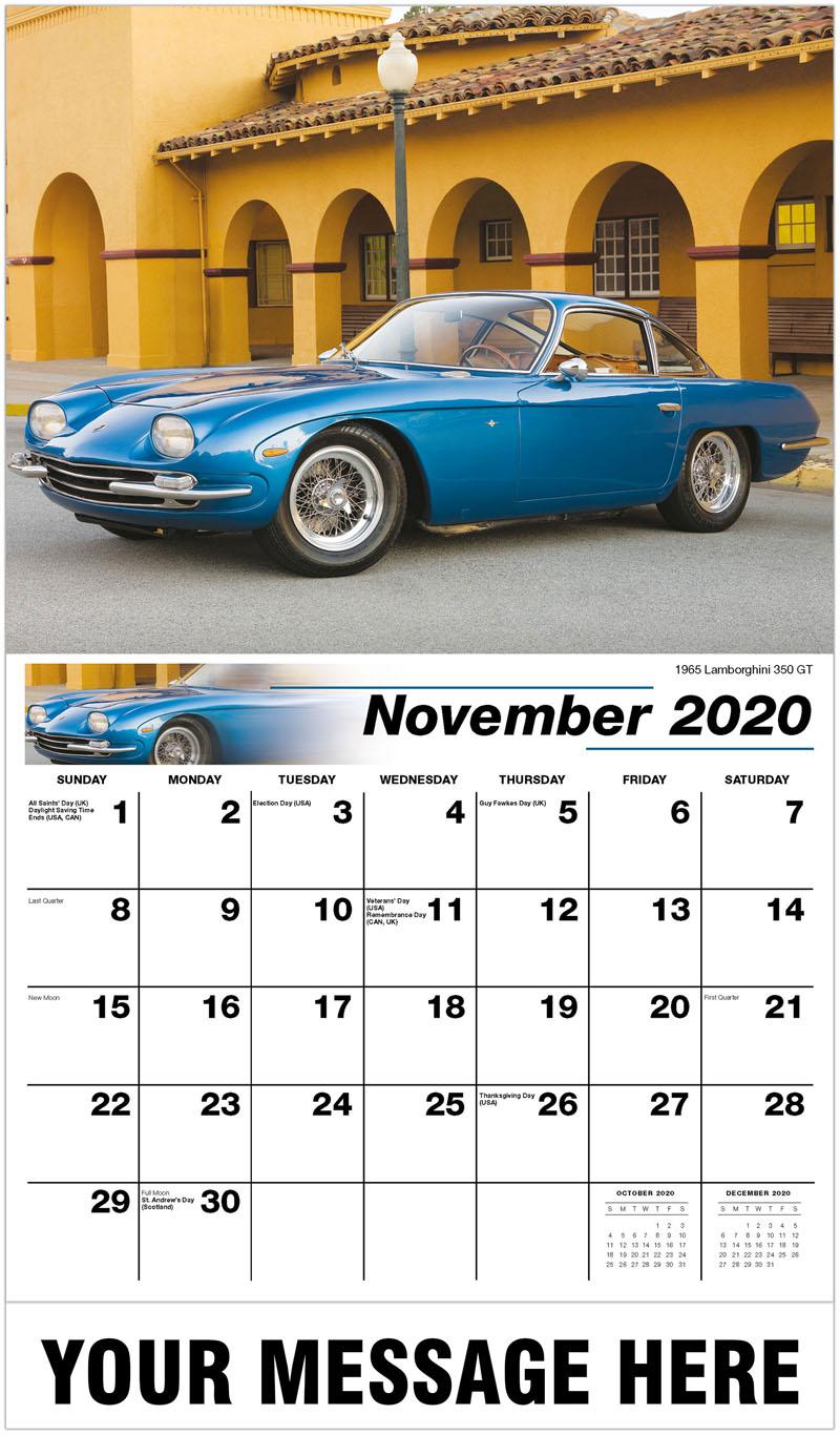 2020 Advertising Calendar - 1965 Lamborghini 350 Gt - November