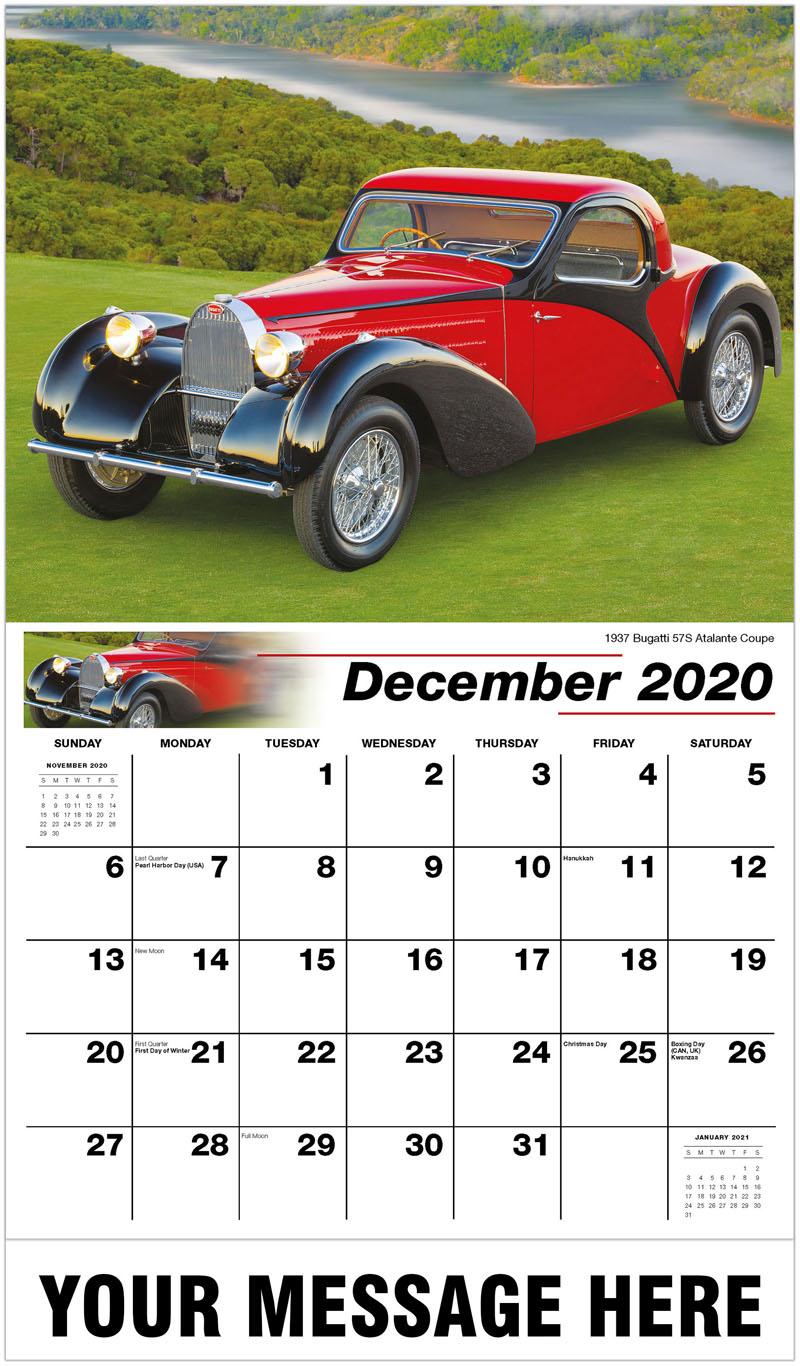 2020 Advertising Calendar - 1937 Bugatti 57S Atalante Coupe - December_2020