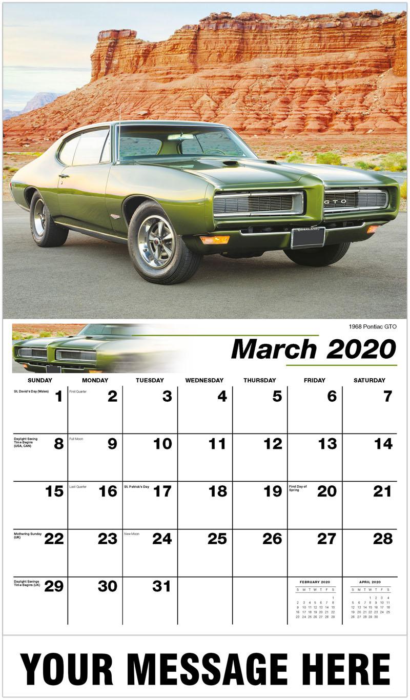 2020 Promo Calendar - 1968 Pontiac Gto - March