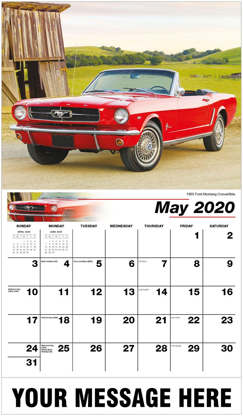 2020 Promo Calendar - 1965 Ford Mustang Convertible - May