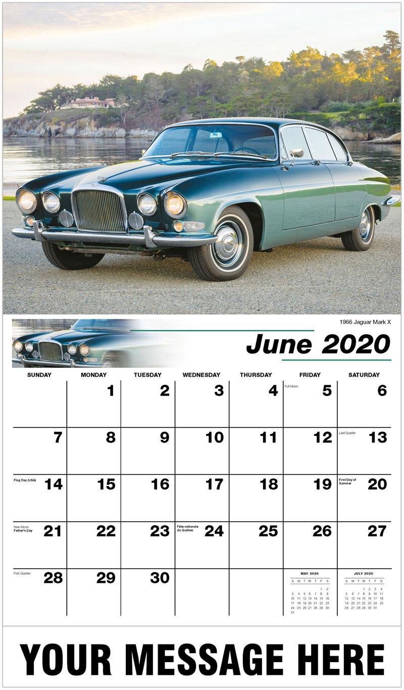 2020 Promo Calendar - 1966 Jaguar Mark X - June