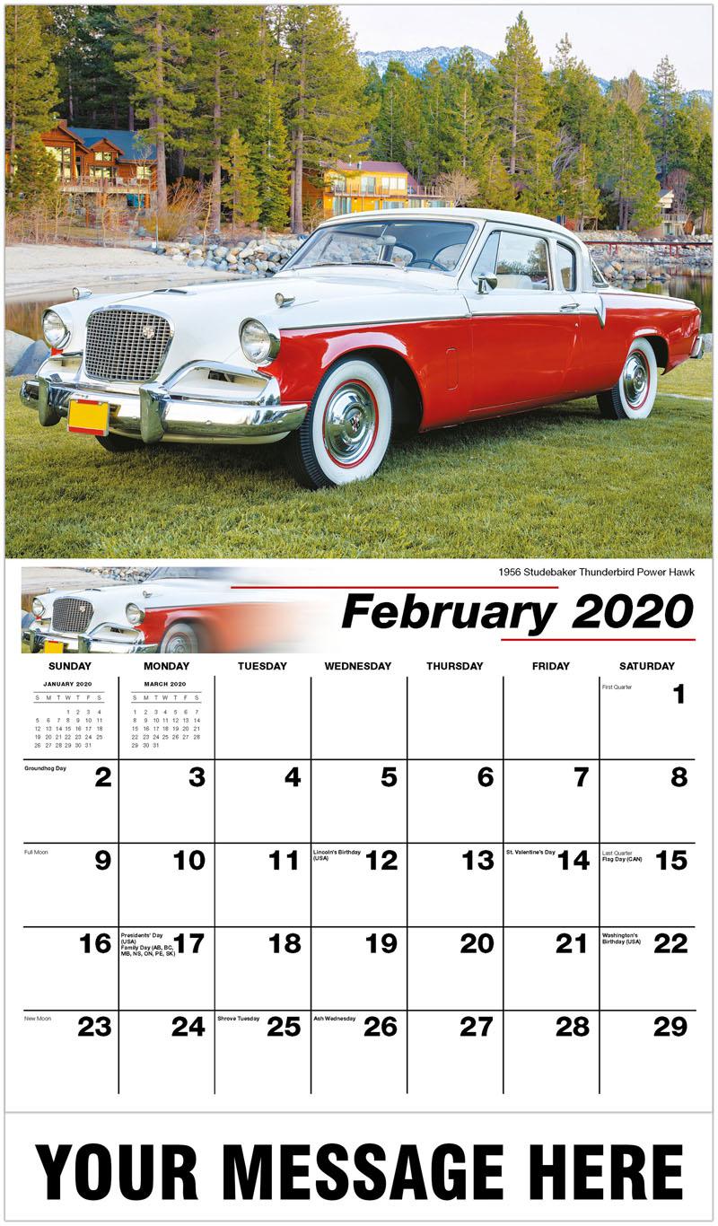 2020 Promotional Calendar - 1956 Studebaker Thunderbird Power Hawk - February