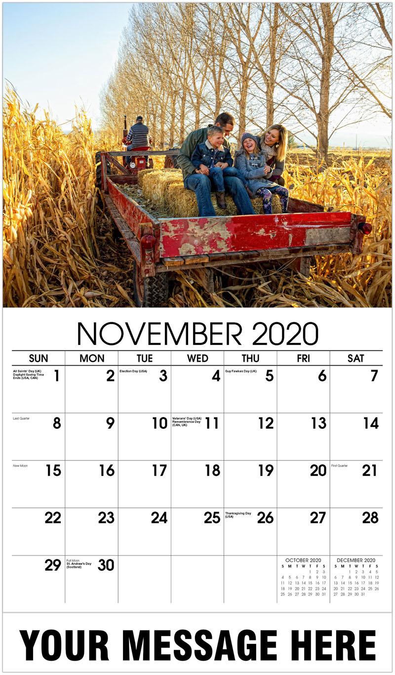 2020 Advertising Calendar - Hay Ride - November