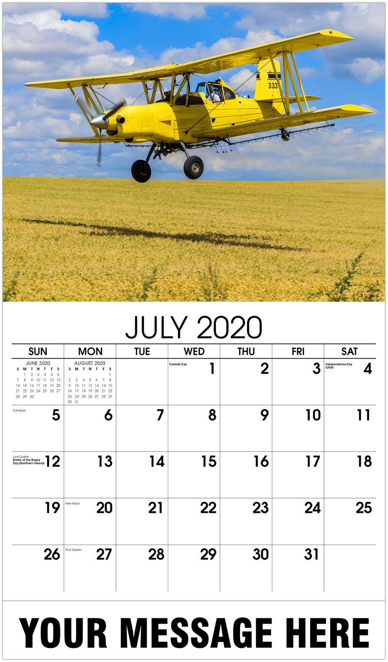 2020 Business Advertising Calendar - Crop Duster - July