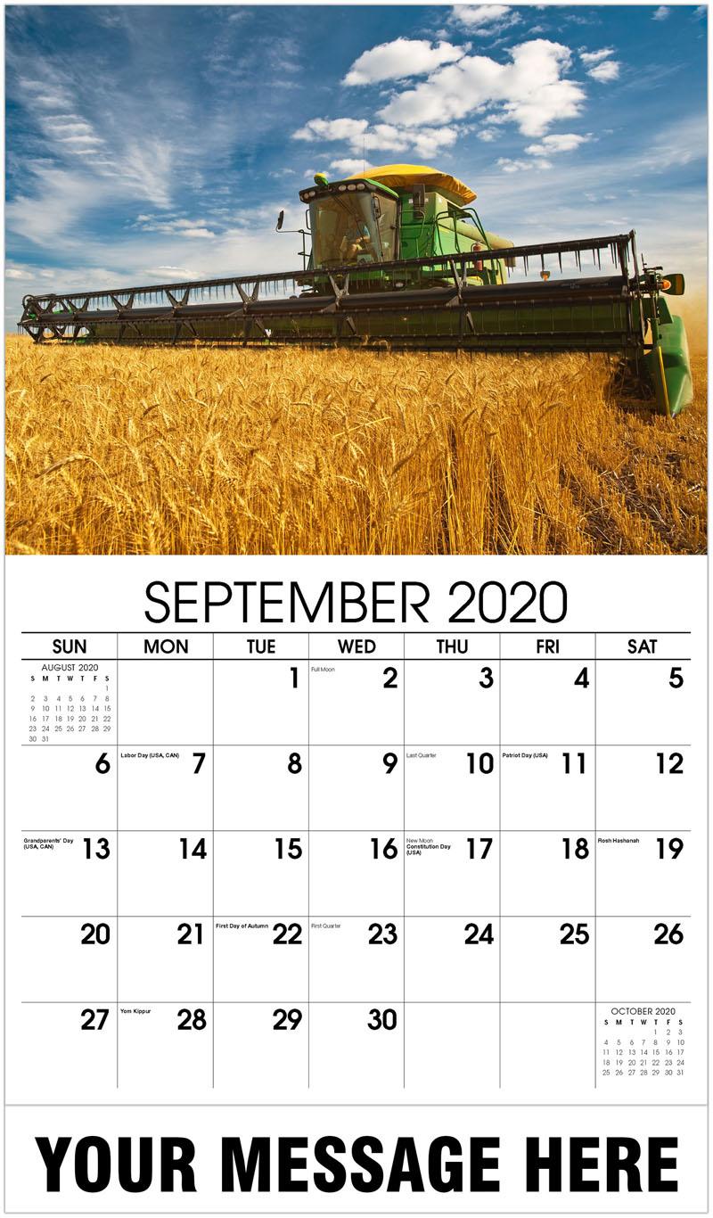 2020 Business Advertising Calendar - Harvester - September