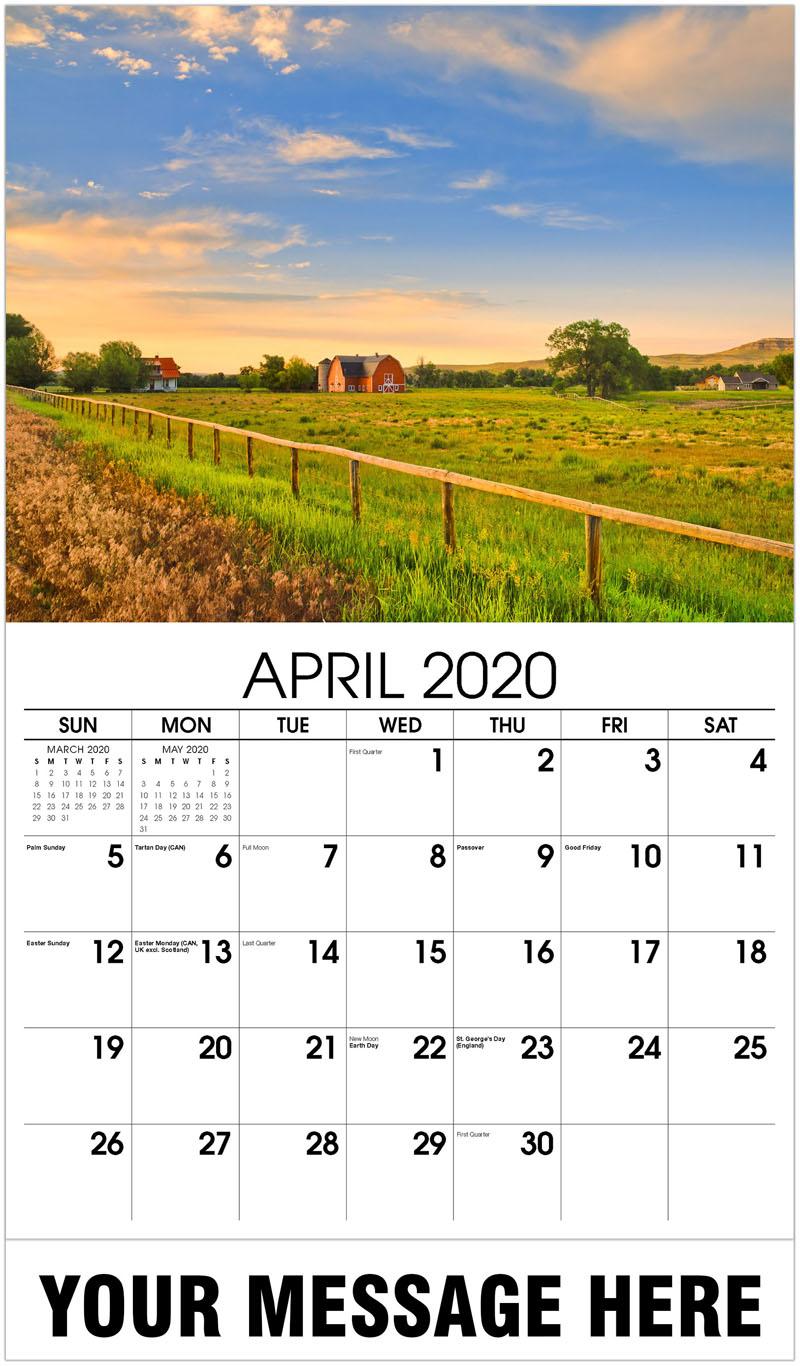 2020 Promo Calendar - Rural Farm - April
