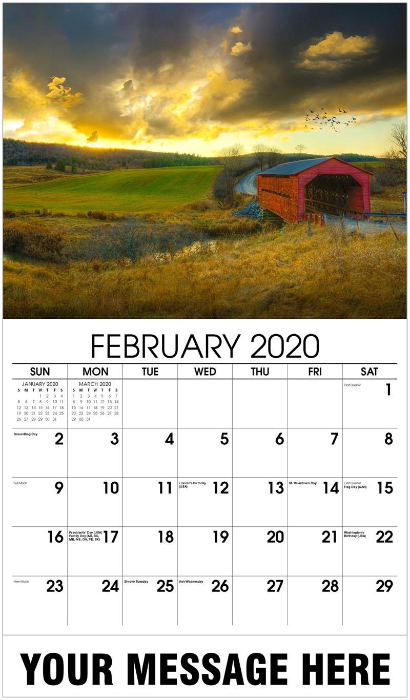 2020 Promotional Calendar - Covered Bridge - February