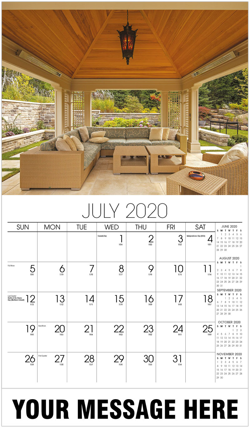 2020 Business Advertising Calendar - Patio - July