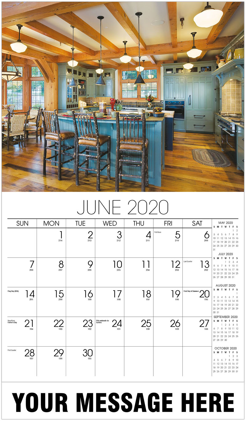 2020 Promo Calendar - Kitchen With Wood Beams - June
