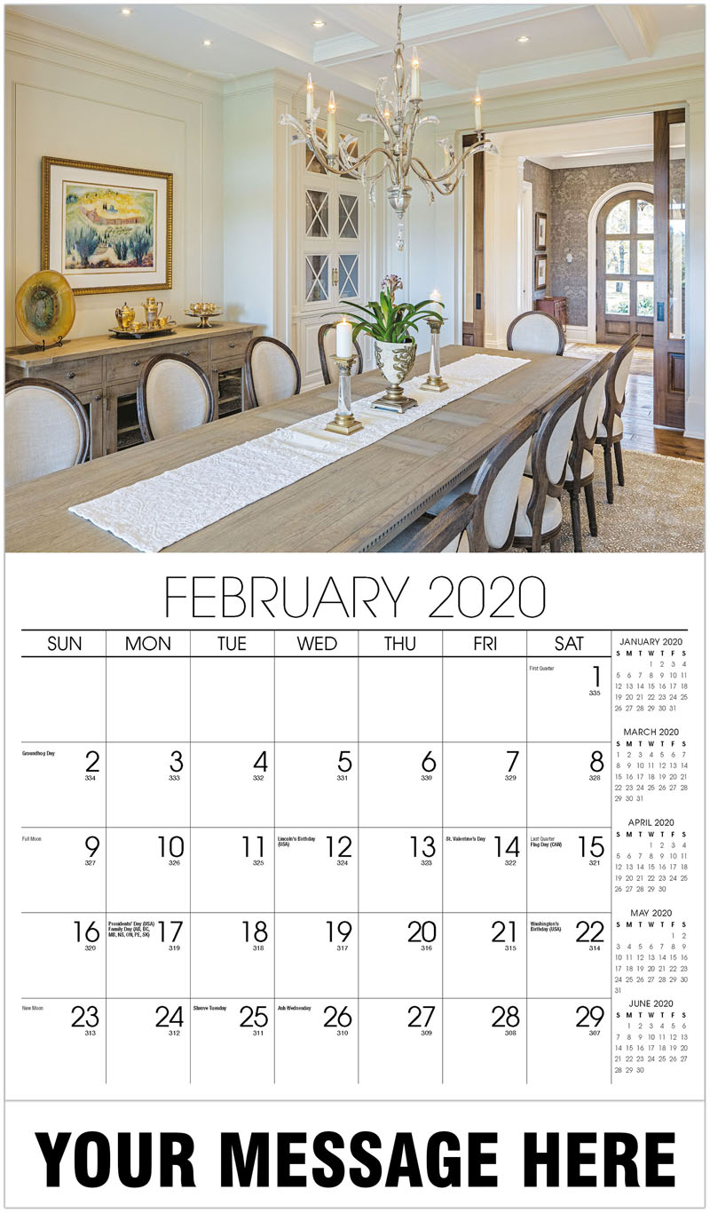 2020 Promotional Calendar - Dining Room - February